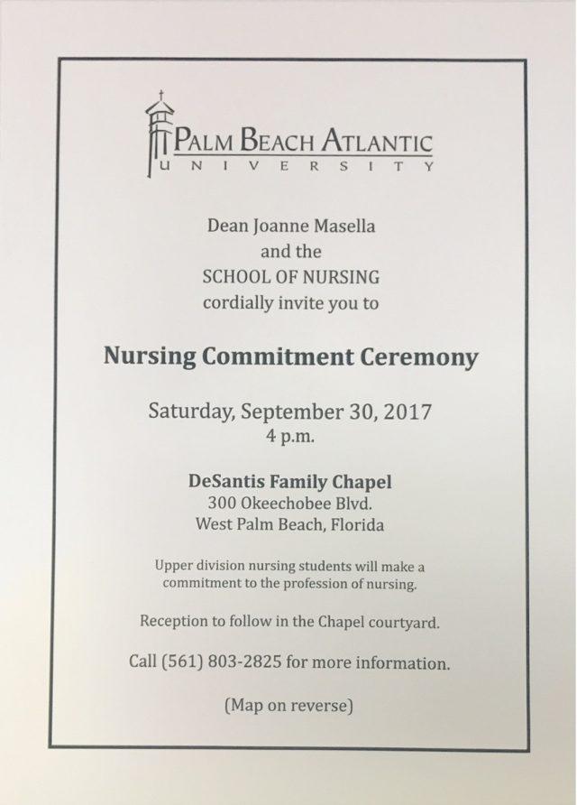 Commitment Invitation Class of 2019 PBA Nursing